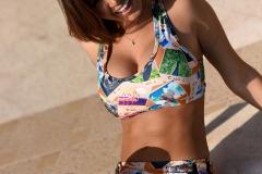Gemma Massey Big Boobs Bikini by the Pool 01