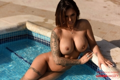 Gemma Massey Big Boobs Bikini by the Pool 14