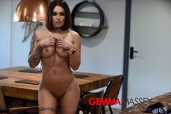 Gemma Massey Big Boobs Come out of Sexy Black Lingerie 14