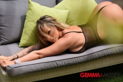 Gemma Massey Big Boobs in a Really Tight Swimsuit 002