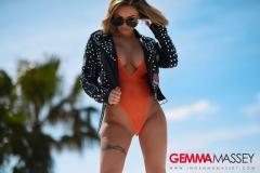 Gemma Massey Big Boobs in Interesting Leather Jacket 002