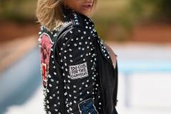 Gemma Massey Big Boobs in Interesting Leather Jacket 010