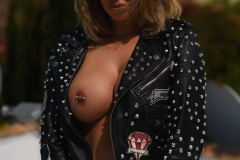 Gemma Massey Big Boobs in Interesting Leather Jacket 014