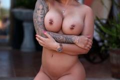 Gemma Massey Big Boobs in Sexy Bllue Top 016