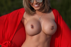 Gemma Massey Big Boobs Red Bikini Hot and Horny 006