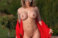 Gemma Massey Big Boobs Red Bikini Hot and Horny 009