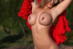 Gemma Massey Big Boobs Red Bikini Hot and Horny 015