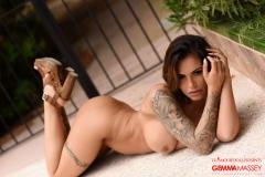 Gemma Massey Big Tits Blue Lacey Bra and Panties 15