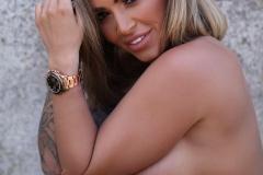 Gemma Massey Big Tits White Bikini Top 010