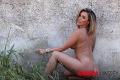 Gemma Massey Big Tits White Bikini Top 011