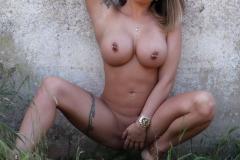 Gemma Massey Big Tits White Bikini Top 012