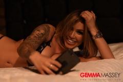 Gemma Massey Big Ttis Lacy Black Bra and Panties 002