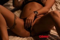 Gemma Massey Big Ttis Lacy Black Bra and Panties 008
