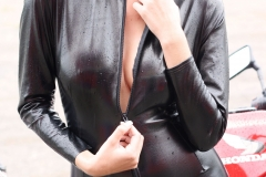 Hayley Marie Coppin Big Boobs  and a Shiny PVC Catsuit 006