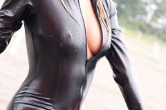 Hayley Marie Coppin Big Boobs  and a Shiny PVC Catsuit 007