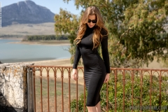 Heather Perky Breats in Little Black Dress for Photodromm 001