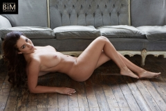 Holly Peers Big Tits Denim Shirt and White Bra 014