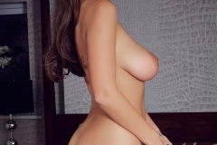 Holly Peers Big Tits Silky Nightie Ready for Bed 010