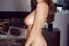 Holly Peers Big Tits Silky Nightie Ready for Bed 012