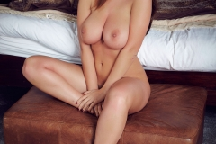 Holly Peers Big Tits Silky Nightie Ready for Bed 014