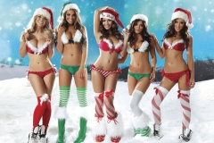 Holly Peers Stacey Poole Plus Others Big Boob Christmas Lingerie 01