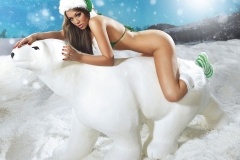 Holly Peers Stacey Poole Plus Others Big Boob Christmas Lingerie 06