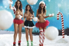 Holly Peers Stacey Poole Plus Others Big Boob Christmas Lingerie 10