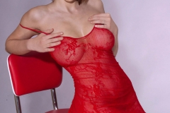 Iga Wyrwal Big Tits Red Corset 06