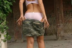 Ines Cudna Big Tits Camo Miniskirt 05