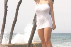 Ines-Cudna-Big-Tits-IN-White-Dress-on-the-Beach-006