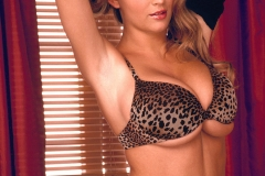 Ines Cudna Big Tits Leopard Print Bra and Panties 06