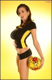 Jana Defi Huge Boobs in Very Tight Tshirt 003