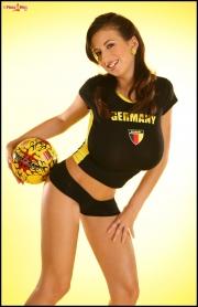 Jana Defi Huge Boobs in Very Tight Tshirt 004