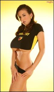 Jana Defi Huge Boobs in Very Tight Tshirt 012