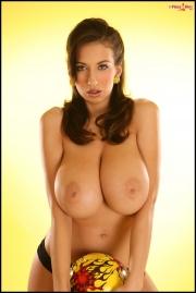 Jana Defi Huge Boobs in Very Tight Tshirt 026