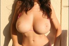 Jana Defi Huge Tit Pink Bikini Babe 017