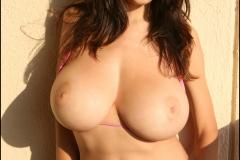 Jana Defi Huge Tit Pink Bikini Babe 018