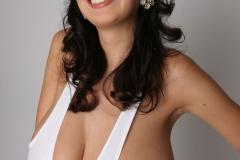 Jana Defi Huge Tits in White Vest Top 007