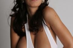 Jana Defi Huge Tits in White Vest Top 008