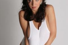 Jana Defi Huge Tits in White Vest Top 009