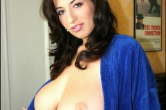 Jana Defi Huge Tits Spilling from Dressing Gown 04
