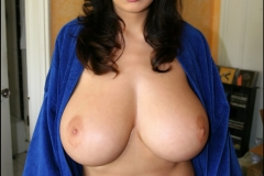 Jana Defi Huge Tits Spilling from Dressing Gown 07
