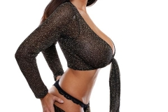 Jana Defi Massive Tits Black Lingerie 01