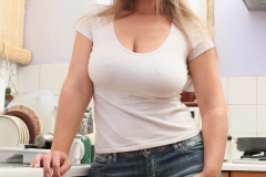 Janey Buckingham Big Tits White Tshirt 01