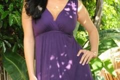 Jelena Jensen Nice Tits Purple Dress 01