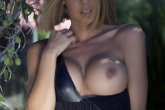 Jennifer Ann Big Boobs Peel Out from PVC Bodysuit 010