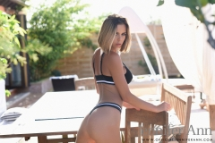 Jennifer Ann Big Tits in Black Stretchy Bikini 002