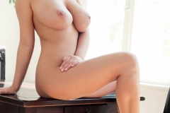 Jenny McClain Big Boobs Naked on a Table 001