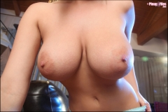 Jenny McClain Big Breasts in turquoise bra 00