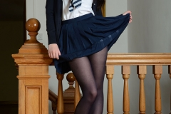 Jessica-Ann Fegan Strips Out of Her School Uniform 002